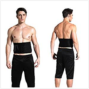 Waist Trimmer Belt - Adjustable Ab Sauna Belt for Women Men to shed the excess Water, weight and tone of mid section, Black - One Size Fits up to 50 Inches