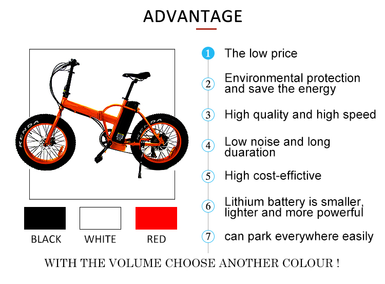 351 - 500w 20 inch fat tyre folding electric bicycle bike with CE