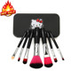 new arrival 2018 professional cute hello kitty makeup lovely pink foundation brushes with iron box