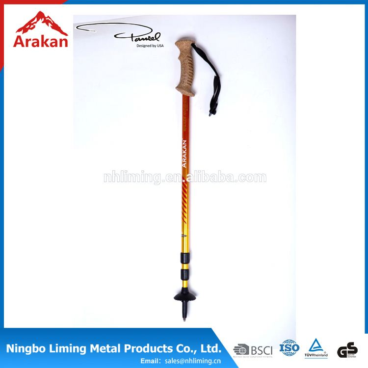 Promotion factory supply outdoor walkig stick trekking pole