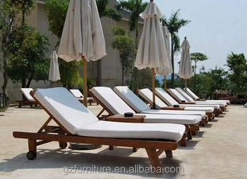 Wooden Sun Lounger Steamer Deck Chair