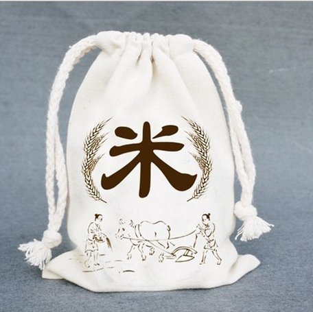 Hot selling cutton gift jute bag for <strong>rice</strong> and wheat packing