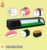 Single layer glass counter top sushi refrigerator display