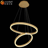 Large Pendant Light In Designer Style Wood color And Aluminum ring lamp OM66113