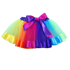 Wholesale rainbow tutu cheap tutu ruffle tutu rainbow pettiskirt girls dance ballet short skirt dress