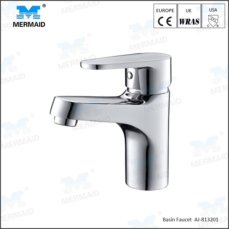 AoJie Hot Sales Best Price basin mixer taps with lead free brass chrome hot and cold taps vessel faucet