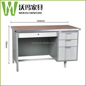 High Tech Executive Office Computer Table Design Used Metal Frame Office  Desk With Locking Drawer