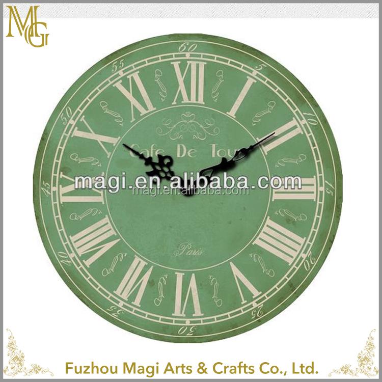유럽 스타일 빈티지 장식 라운드 60x60 센치메터 나무 벽 시계 ...