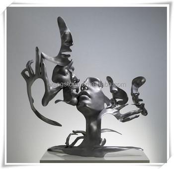contempor nea decora o arte a o inoxid vel escultura abstrata cinco faces humano buy a o. Black Bedroom Furniture Sets. Home Design Ideas