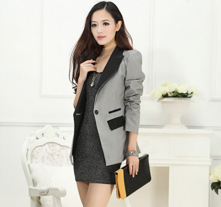 0240737347f Get Quotations · 2014 New spring suit female Korean Slim thin suit OL  professional women suit the long section