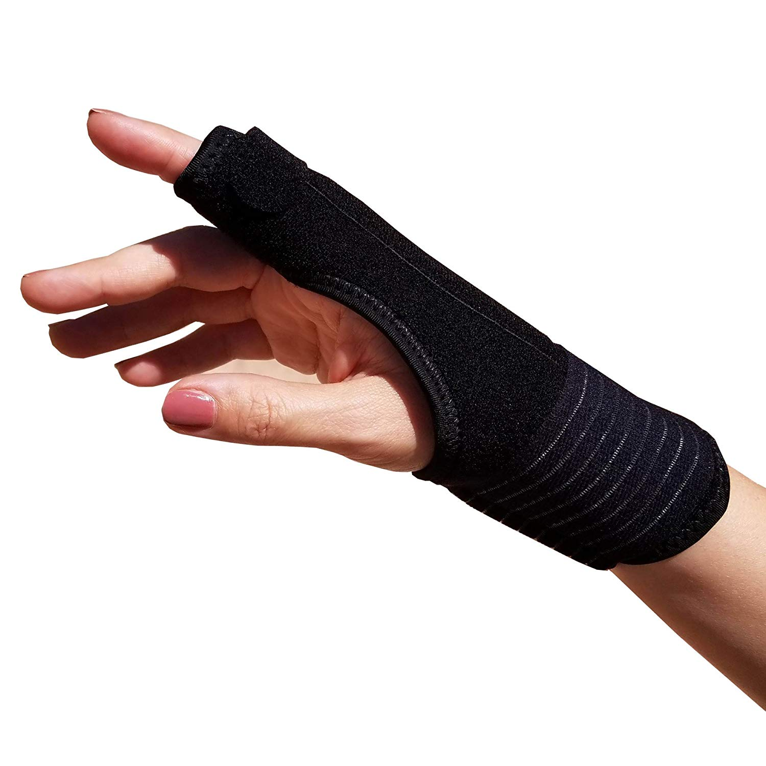 TrustWell Hand and Finger Immobilizer Splint | Thumb Splint, Wrist Brace, Finger Splint, Pinkie Splint Supports Hand and Wrist | Carpal Tunnel Brace, Arthritis Brace, Tendonitis Brace