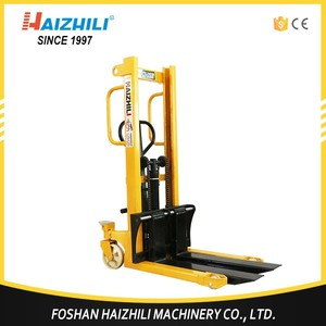 Professional material handling equipment cheap hot price 1 ton manual pallet stacker jack truck