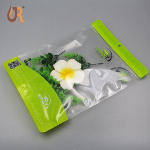 Wholesale custom printed waterproof transparent plastic clear pvc zipper stand up mylar bag pouch
