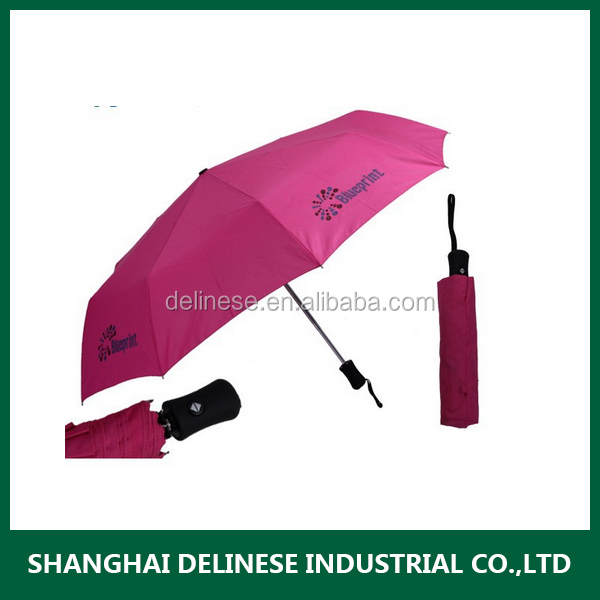 High quality Automatic open 2 folding compact windproof umbrella new design