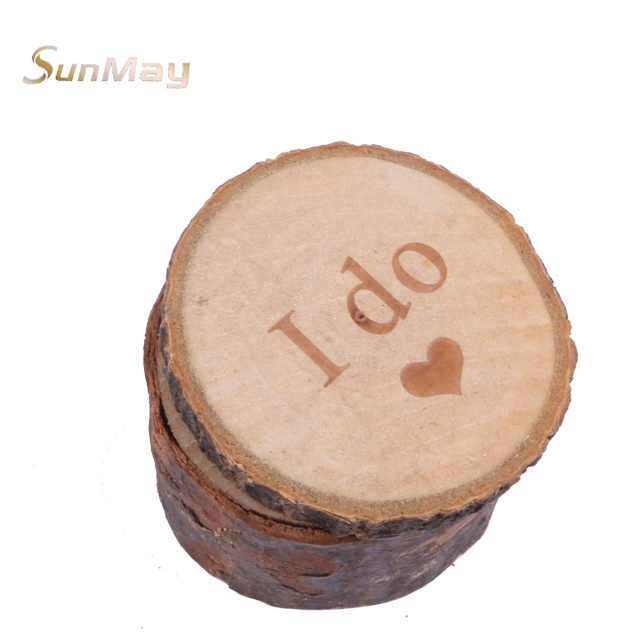 Top selling popular wedding ring box wood engagement party retro style custom wood ring box