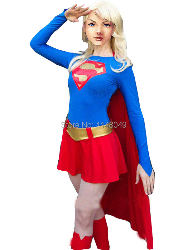 Get Quotations · Blue and Red Spandex Supergirl Costume Superhero Costume for Girl  sc 1 st  Alibaba & Cheap Supergirl Costume Girl find Supergirl Costume Girl deals on ...