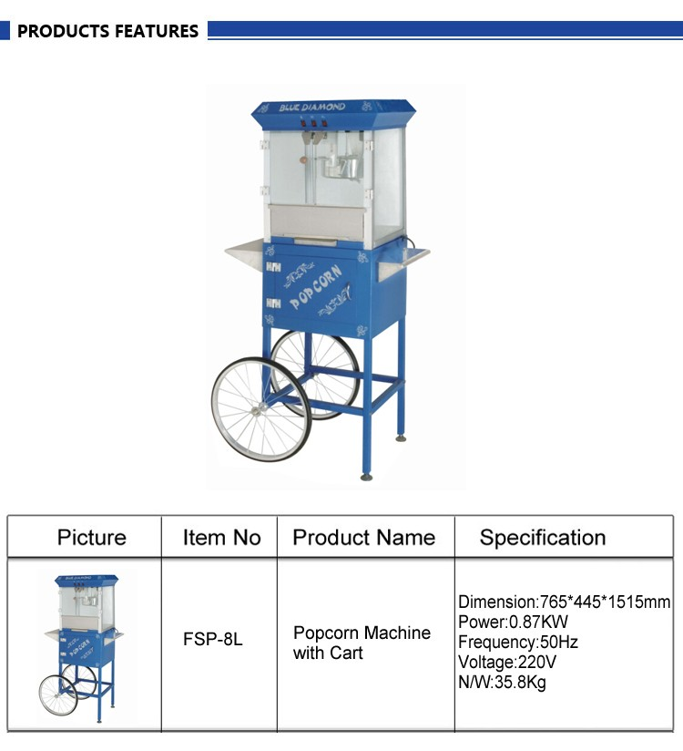 Quality Various Styles Commercial Electric Popcorn Vending Machine China