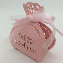 laser cut candy Customized Laser cut pink filigree candy boxes XK14