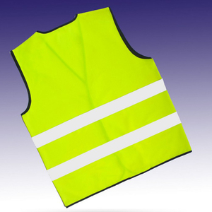 High visibility roadway safety reflective vest fluorescent reflective security vest