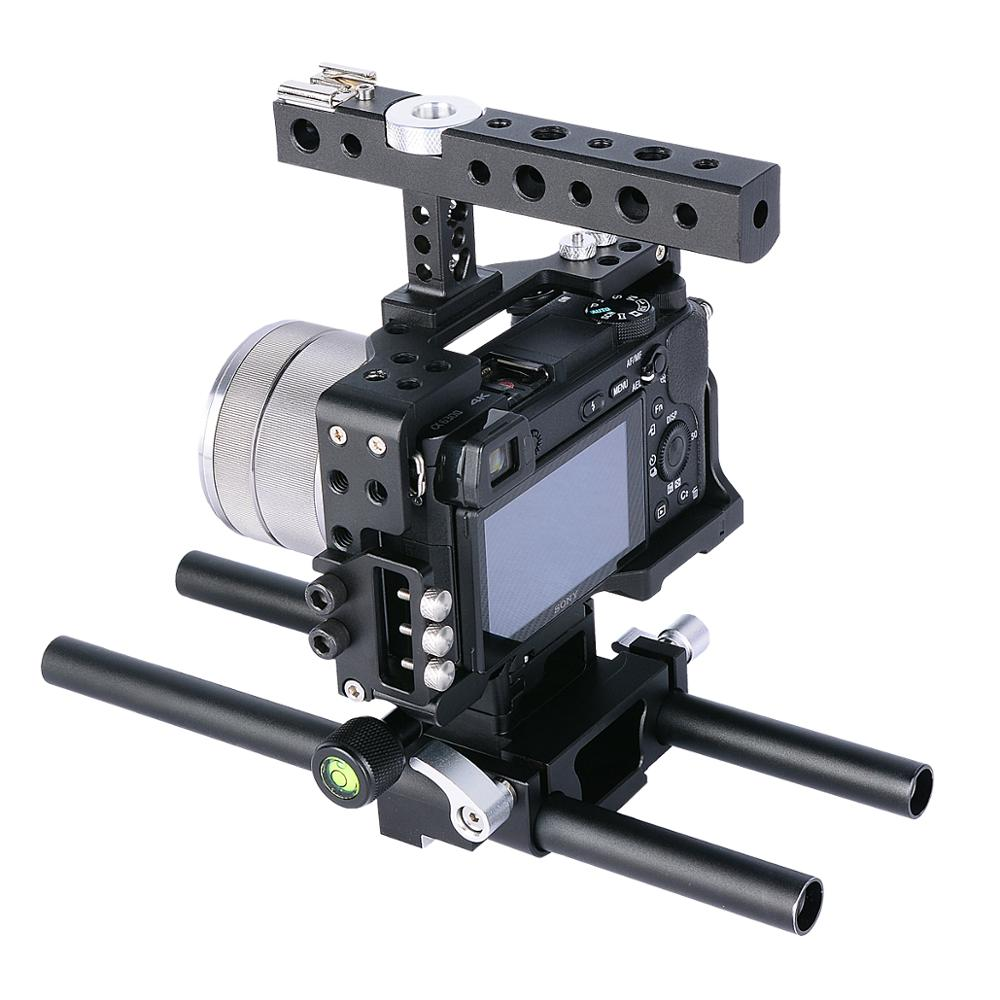 YELANGU C6 Aluminum DSLR Bracket Support Video Camera Holder Camera Cage for A6300 A6500 A6000