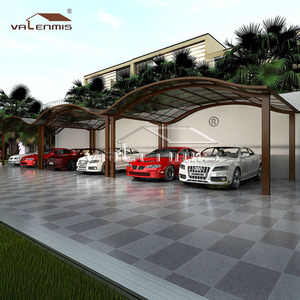 Cheap Aluminum single car garage style with Polycarbonate