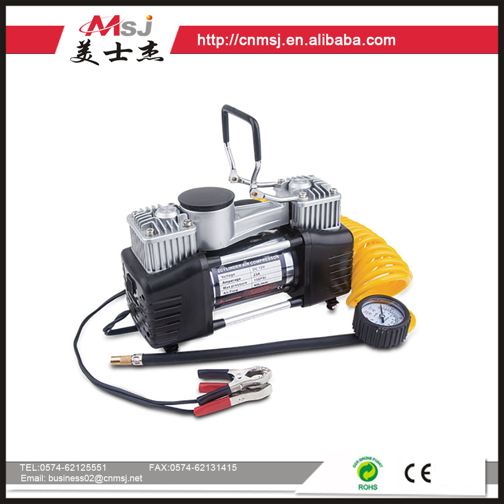 Portable air compressor double cylinder with gauge / toyota digital car tire inflator MSJ-006