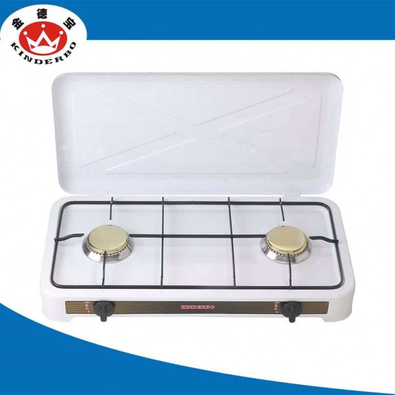 2 burner good quality gas stove with cover