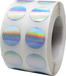 Security hologram labels void warranty stickers tamper evident seals Dogbone with serial numbers