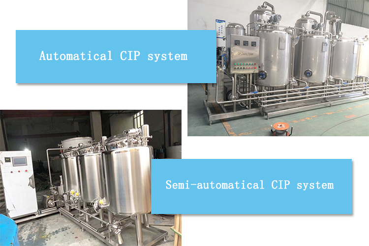 manufacturer Automatical Semi water acid alkali tank CIP cleaning system for milk beverage juice