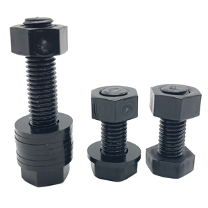 china supplier full thread plastic nylon black color hex bolts and nuts