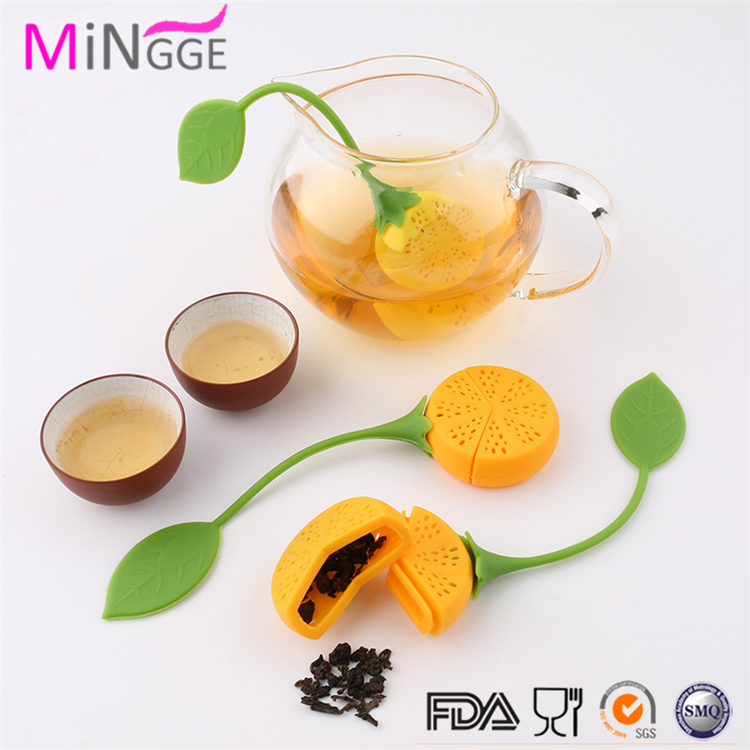 Amazon lemon shape Hot selling Silicone Bag Tea Leaves Infusers