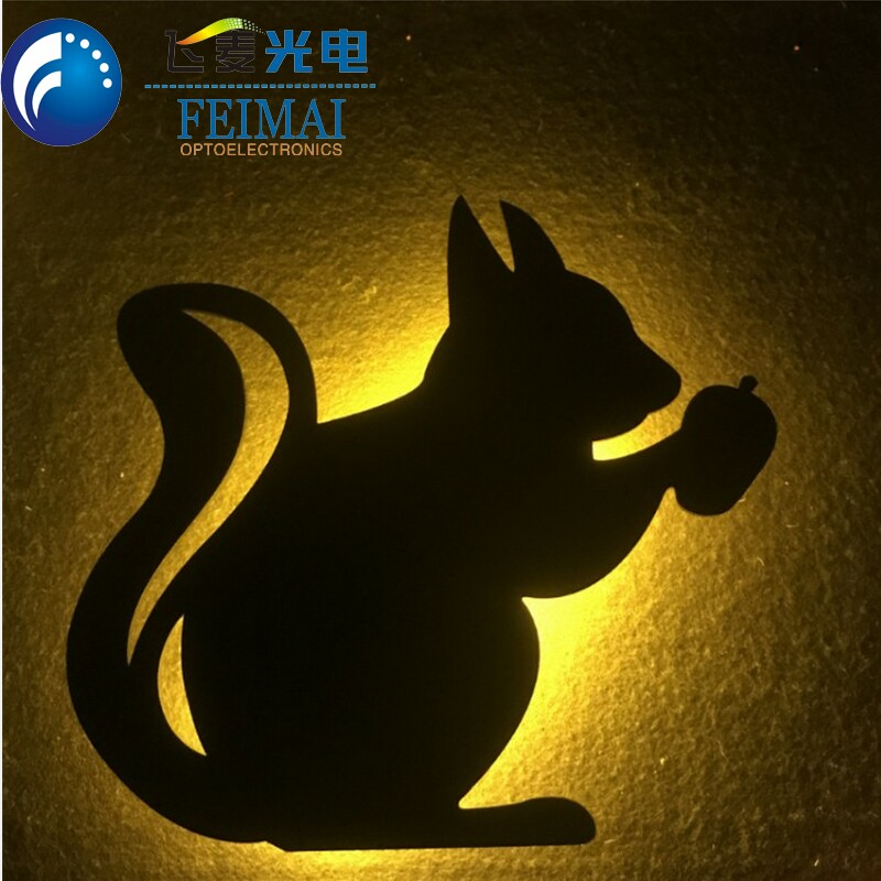 Battery Powered Led shadow wall lamp Acrylic Night Light for Kids Room