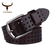 COWATHER 2018 new Women 소 Genuine leather <span class=keywords><strong>벨트</strong></span>로 예쁘게 빈 Korea fashion 대 한 women 암 belt NQSK002 길이 100-125 CM