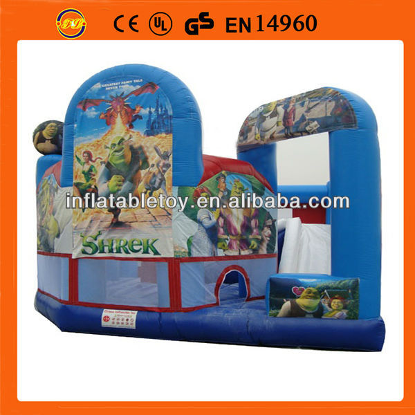 shrek infatable combo jumping ,5 in 1 inflatable combo slide