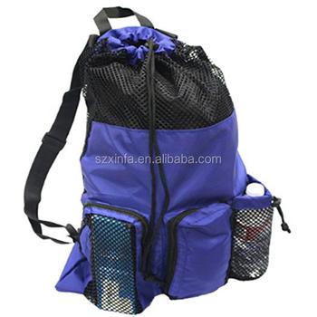 Mesh Equipment Bag Adjule Sliding Drawstring Cord Closure Perfect For Diving Swimming Water Sport Scuba