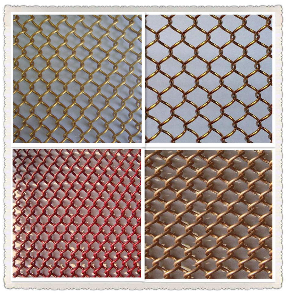 wire woven drapery for decoration,stainless steel or aluminum