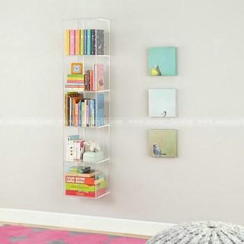 bolsillo acrilico estantera vertical u horizontal de acrilico de libro claro soporte de