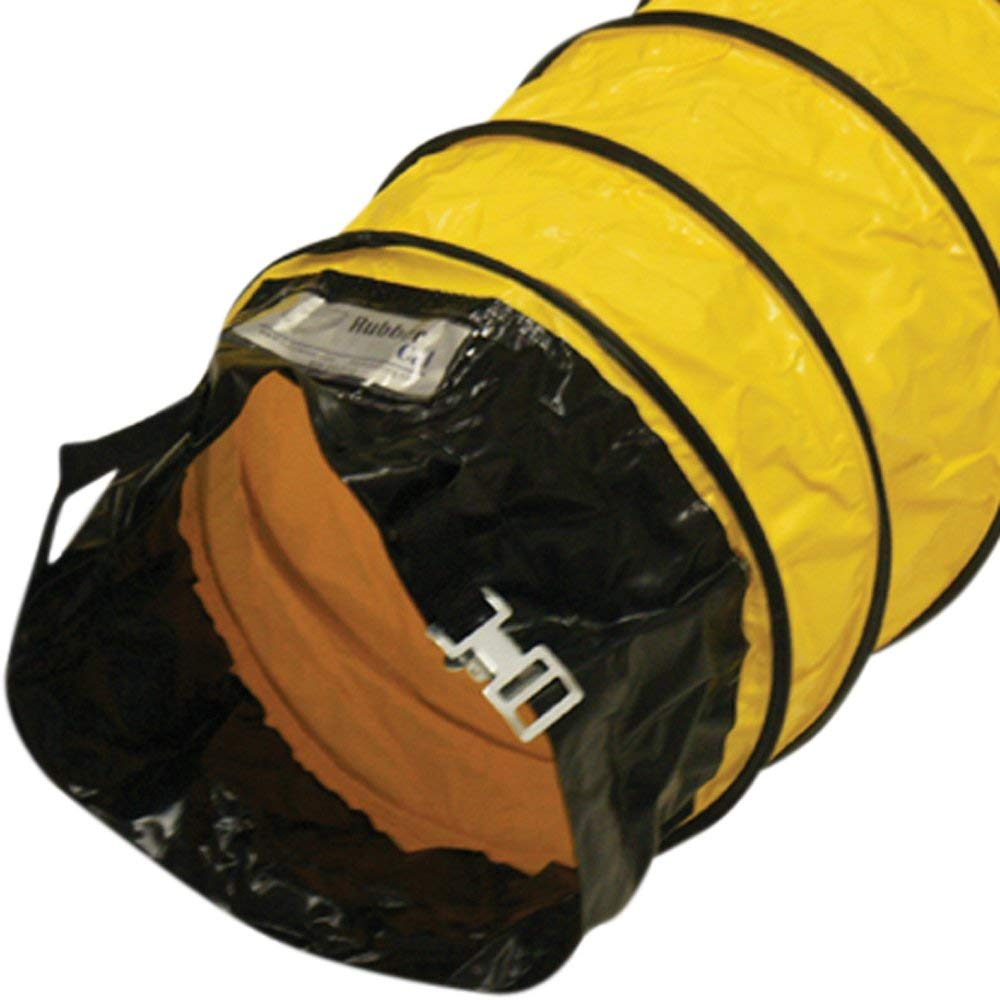 "Rubber-Cal ""Air Ventilator Yellow"" Ventilation Duct Hose (Fully Stretched), 06-Inch by 25-Feet"