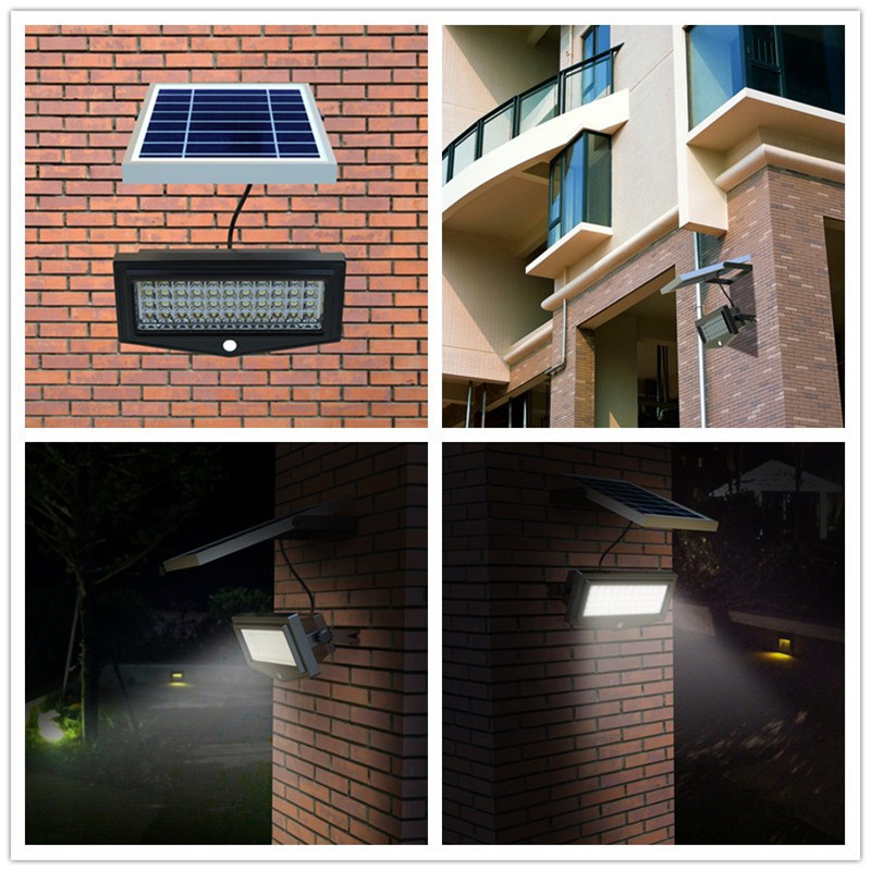 Home Led Solar Powered Pir Outdoor Security Light Sensor
