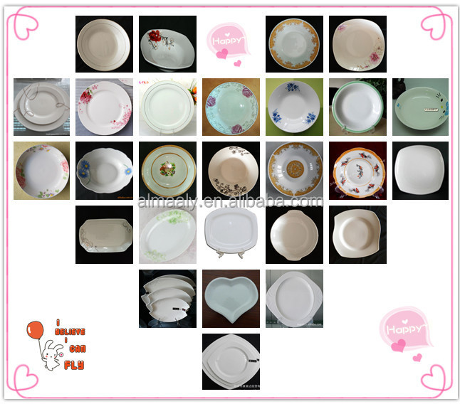 porcelain flat plate round fashionable design