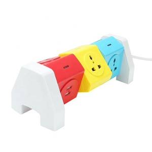 Long power cord 5 outlet indian plug electrical power socket with usb