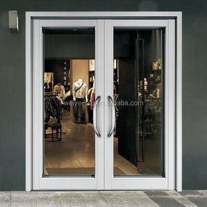 WJY100 elastic spring swing thermal break insulating dust proof glass aluminium door