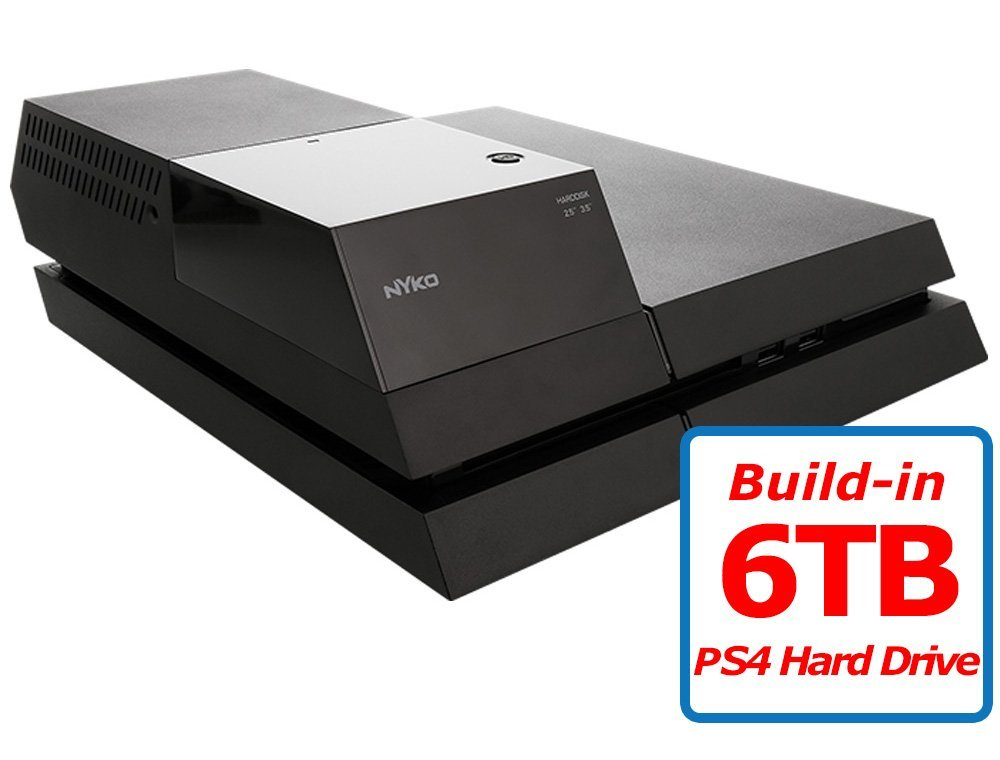 Avolusion (AVPS4HD-N6T+) 6TB (Playstation 4) PS4 Hard Drive - 2 Year Warranty (Nyko Data Bank Plus + 6TB HDD)