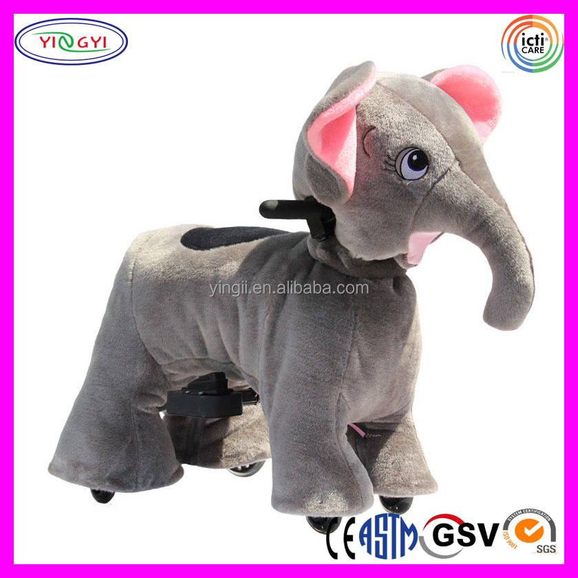 D029 Battery Operated Ride on Toys Plush Animal Electric Scooter for Kids