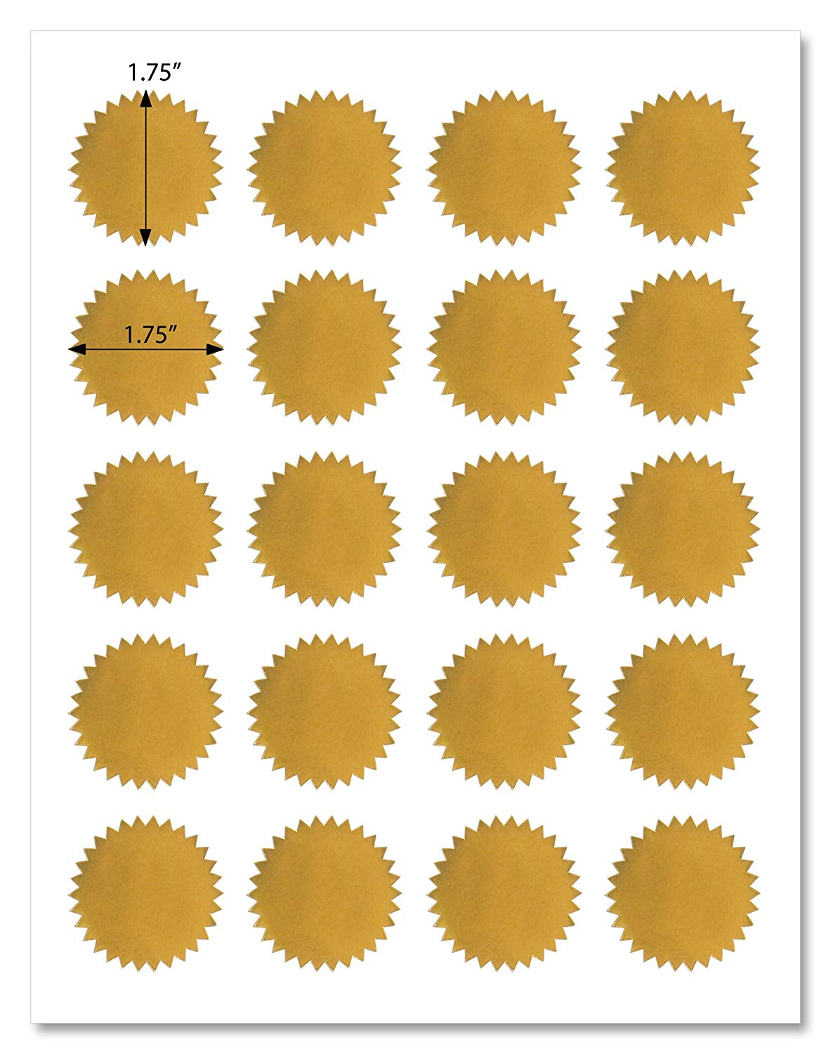 Cheap round template labels find round template labels deals on get quotations shiny gold foil round starburst labels 175 inch diameter for laser printers with downloadable maxwellsz