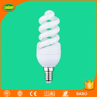 2017 fenghua ISO UL CE LVD EMC RoHS SASO AK approved E14 fluorescent cfl light spiral energy saving lamp down lighting