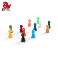Multi-Color Plastic Pawns Pieces for Board Games Tabletop Markers Component