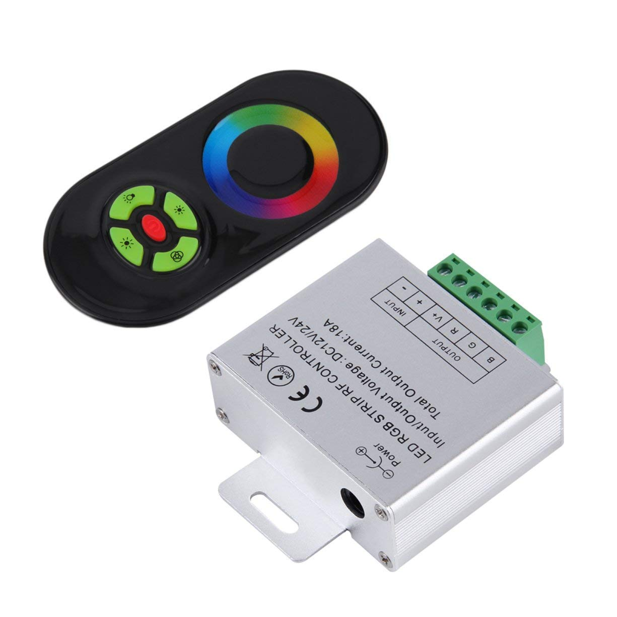 RF Controller, NEW Touch RGB controller DC12V 24V Wireless LED Controller RF Touch Panel LED Dimmer RGB Remote Controller