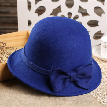 MS81245C British style mom and me fancy bowler hat kids fashion hat