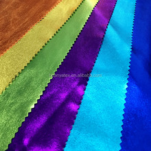 Knitted Metallic Lame Spandex Fabric with Shiny Foil Color